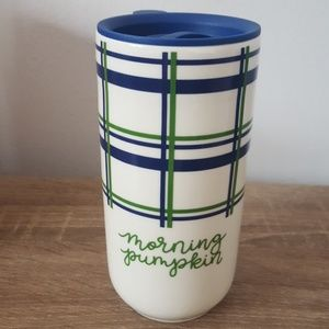 Other - Pumpkin plaid Ceramic Travel Mug
